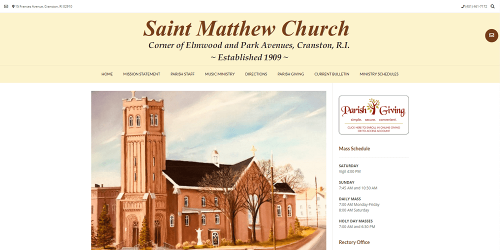 Saint Matthew Parish - Cranston, RI